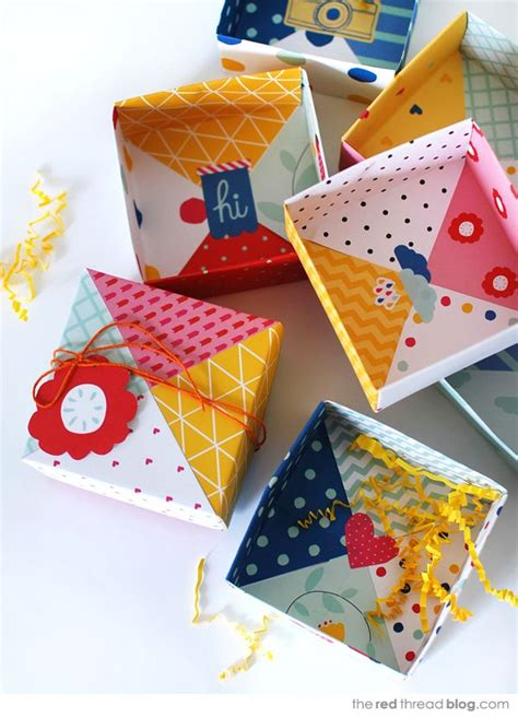 Patchwork Gift Boxes DIY Origami Paper
