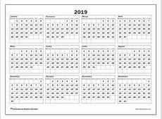 Calendário de de 2019 34SD