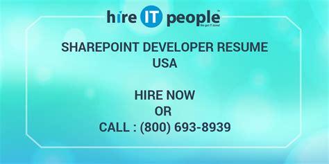 sharepoint developer resume hire  people