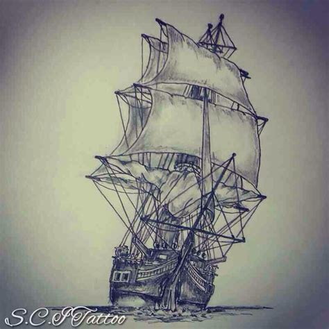 spanish ship sleeve ideas tattoo sketches sleeve