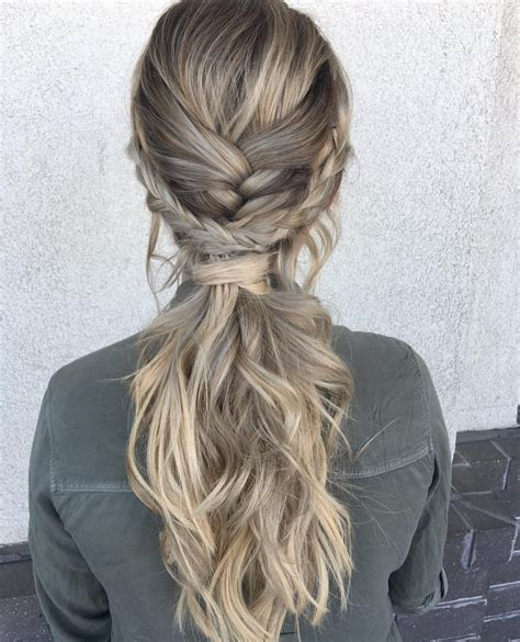 ponytail hairstyles hair long braid hairstyle braids blonde gray ultra parties pophaircuts braided styles ponytails artistic beige