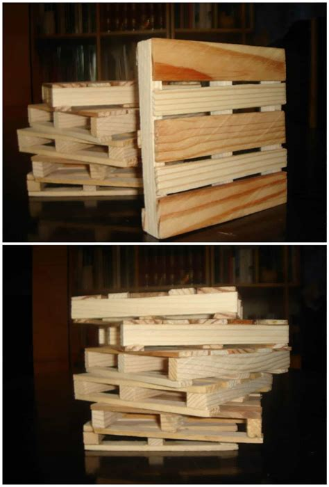 coasters  recycled pallet wood  pallets