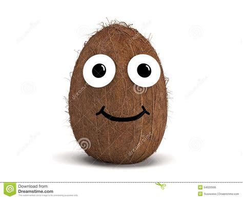 coconut  face stock illustration illustration