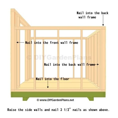 side wall saltbox shed plans page