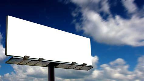 blank billboard looping clouds stock footage video
