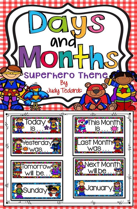 days   week  months   year superhero theme