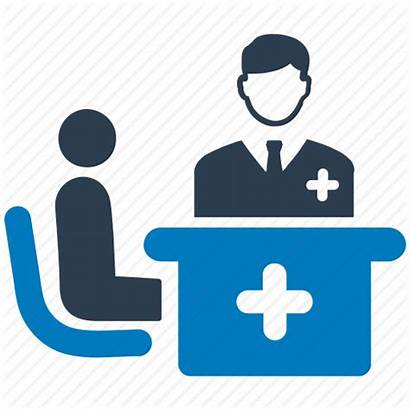 Medical Doctor Patient Icon Consultation Visit Consulting