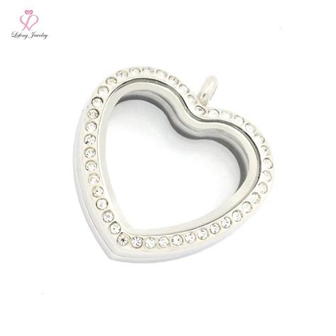 magnetic l shade jewelry fashion 4 color 30mm crystal stainless steel heart
