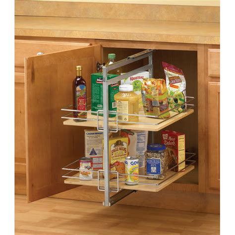 Pantry Organizers  Frosted Nickel Centermount Rollout