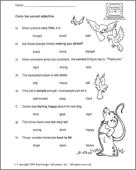 word analogy worksheets 2nd grade test your word power ix free 2nd grade