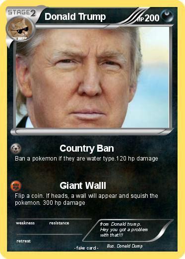 The internet reckons this new pokémon looks like donald trump. Pokémon Donald Trump 3227 3227 - Country Ban - My Pokemon Card