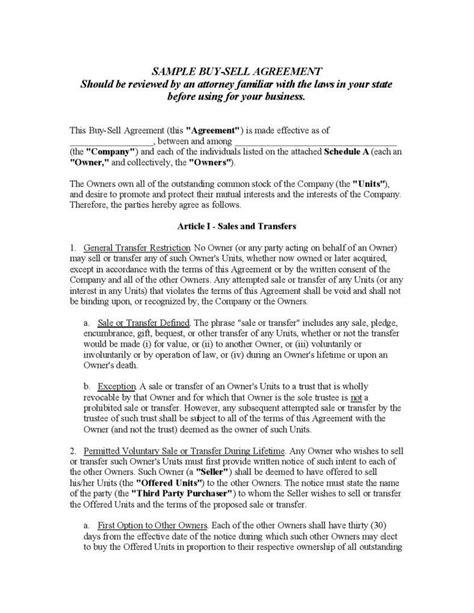 understanding   fundamentals   buy sell agreement