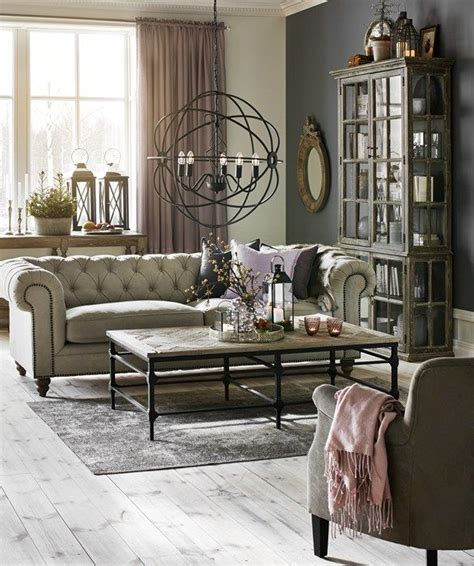 Small Living Room Modern by Chester Delux 3 Sits Soffa I Tyg Natur Vardagsrum