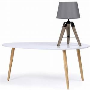 Trépied En Bois : lot de 2 lampes de chevet tr pied en bois grises accessoires maiso ~ Teatrodelosmanantiales.com Idées de Décoration