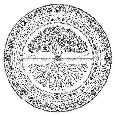mandalas doodle zen  mandalas arbre de vie arbre