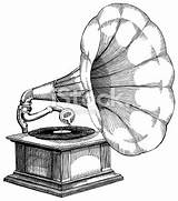 Record Drawing Gramophone Player Vector Getdrawings Tattoo sketch template