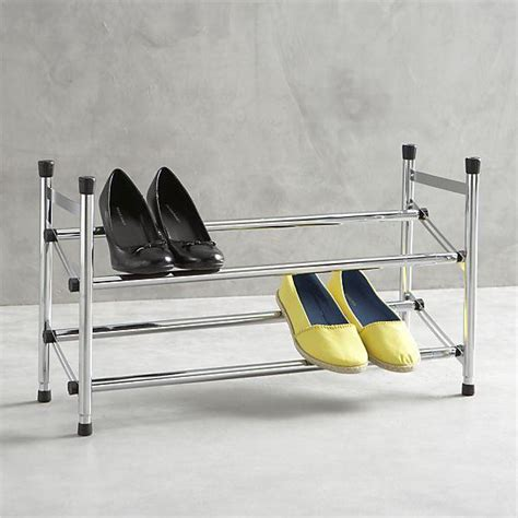 expandable shoe rack ii in closet crate and barrel