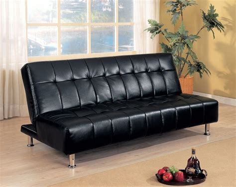 black leather sofa futon black futon sofabed