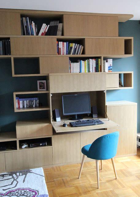 carrelage metro cuisine création d 39 une bibliothèque avec bureau intégré moderne