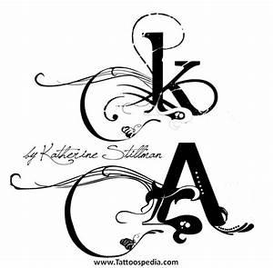 Tattoo Fonts Letter K 2