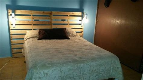 headboard with lights diy upcycled pallet headboard ideas pallet wood projects