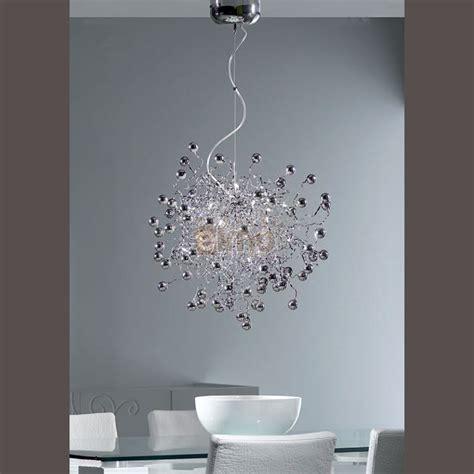 lustres de cuisine lustre moderne boules de verre métal atomic