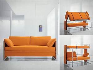 Artistic value of the convertible sofa bunk bed design for Sofa convertible into bed