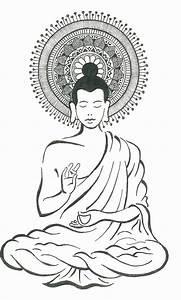 Gautam Buddha Drawing by Ambica Agarwal
