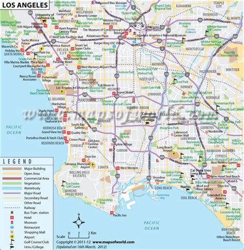 Carte De La Ville by Los Angeles Map Travelquaz