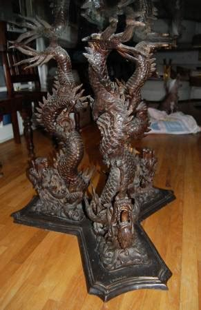 Download files and build them with your 3d printer, laser cutter, or cnc. Bronze Chinese Dragon Dining Table