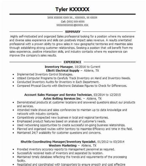Resume Inventory Management by Inventory Manager Objectives Resume Objective Livecareer