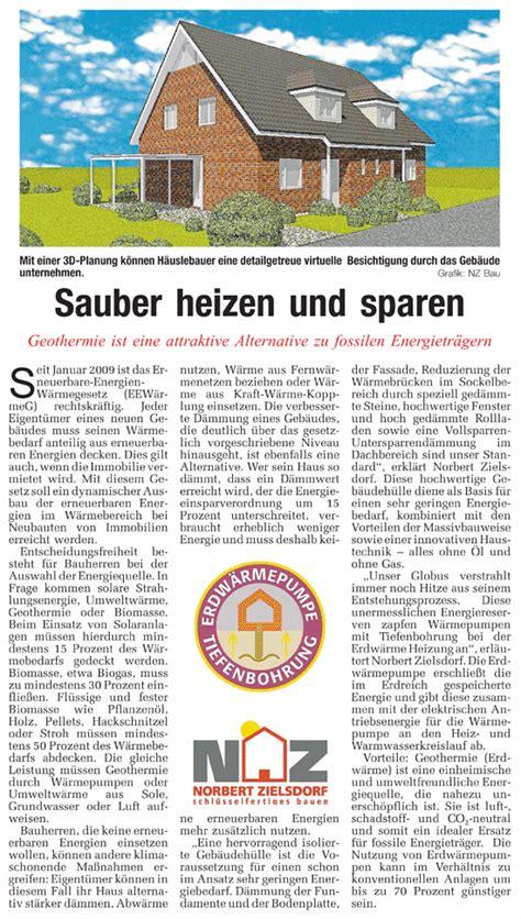 Heizen Mit Pflanzenoel by Sauber Heizen Und Sparen Geothermie Ist Eine Attraktive