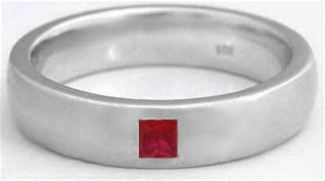 s princess cut ruby wedding band with 6mm comfort fit band in 14k gold mr 5016