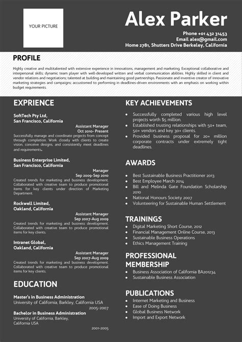 Professional resume in resume templates on yellow images creative store. Professional Dark Background Resume black-white color ...