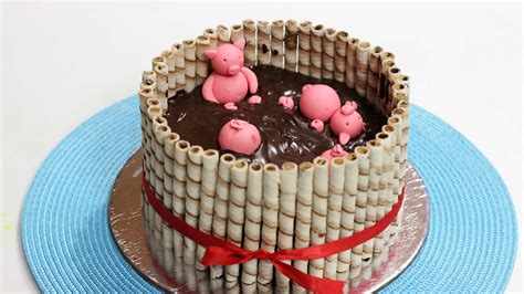 Cake Decoration Ideas For A by Pigs In Mud Cake Cake Idea For By