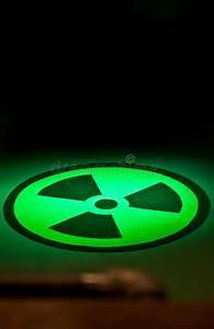 Radium Symbol On Floor In Green Light Stock Illustration