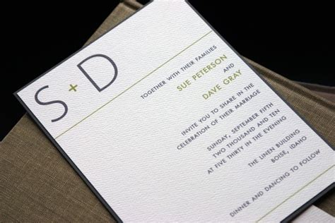 modern simple wedding invitations vertabox