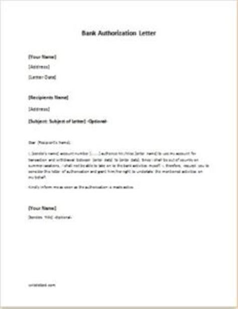bank authorization letter sample template writelettercom
