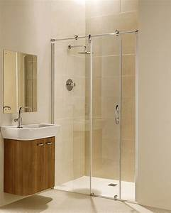 porte de douche coulissante battante et fixe en 95 idees With porte de douche coulissante avec salle de bain bois clair et blanc