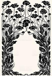 Art Nouveau Garden Border Stock Vector Art & More Images ...