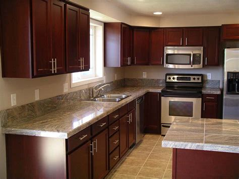 kitchen color ideas with brown cabinets cherry kitchen cabinets for more beautiful workspace 9190