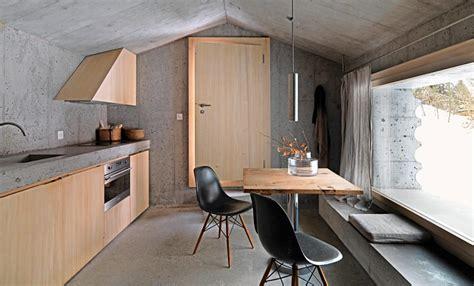 architektenhaeuser beton und holz fuer den innenausbau