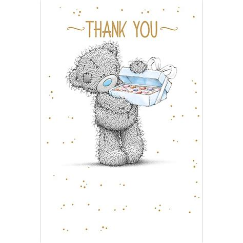 Box Of Chocolates Me To You Bear Thank You Card (a01ms341)  Me To You Bears Online Store