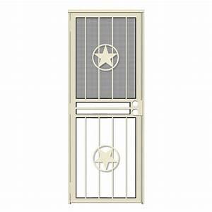 unique home designs 32 in x 80 in lone star almond With unique home designs screen door