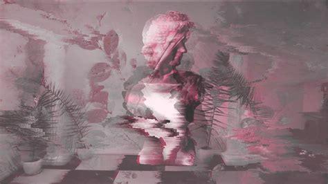 wallpaper vaporwave statue glitch art wallpaper