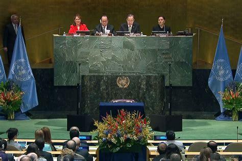 siege de l onu onu info climat un nombre record de 175 pays signent l