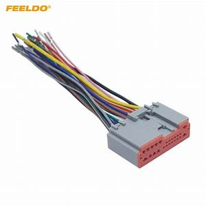 Feeldo 1pc Car Radio Player Wiring Harness Audio Stereo