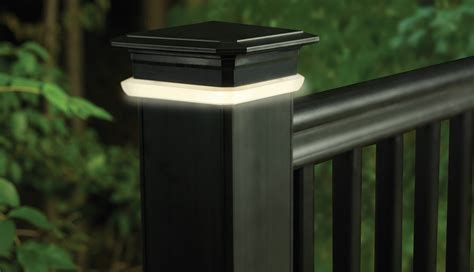 post lights for decks deck rail lighting led deck lights timbertech