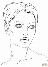 Coloring Face Makeup Disegni Woman Donna Colorare Template Faces Viso Paper Womens Printable Sheets Disegno Drawing Sketch Templates Womans sketch template