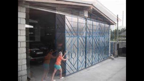 homemade garage bilateral door opener youtube